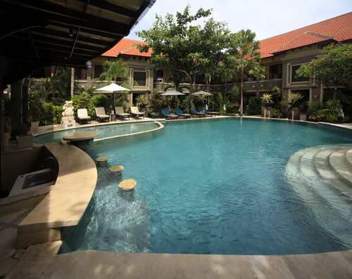 Swimming pool of hotel Adhi Jaya